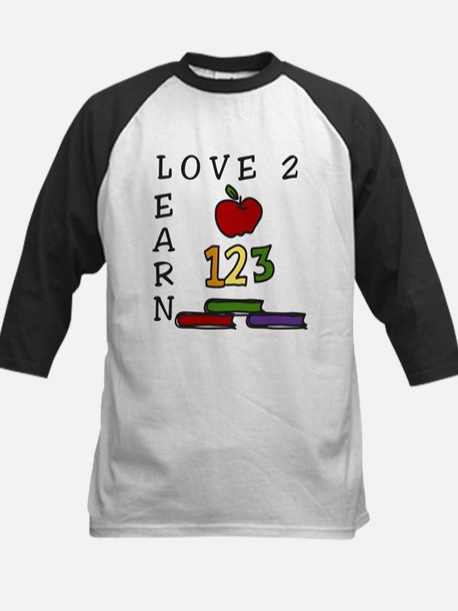 Love 2 Learn Kids Baseball Jersey