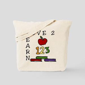 Love 2 Learn Tote Bag
