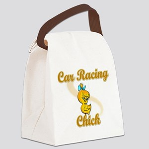 Car Racing Chick #2 Canvas Lunch Bag