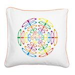 Peace Symbols Square Canvas Pillow