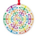 Peace Symbols Round Ornament