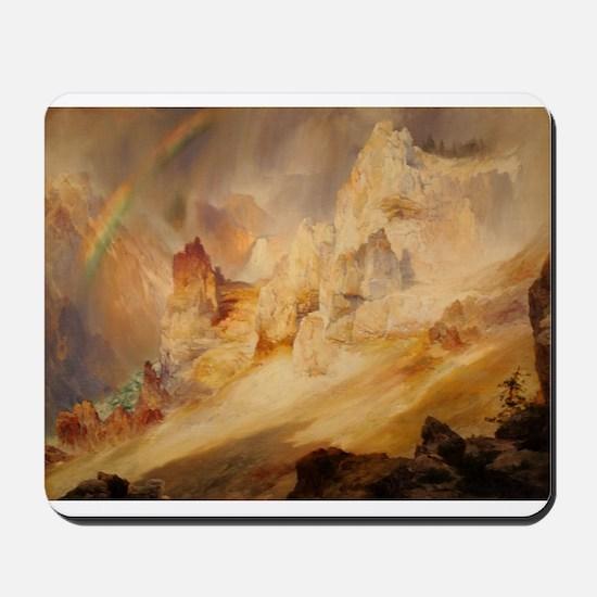 Rainbow over the Canyon Mousepad