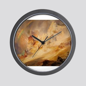 Rainbow over the Canyon Wall Clock