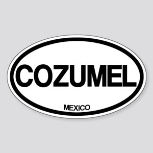 Cozumel Sticker (Oval)