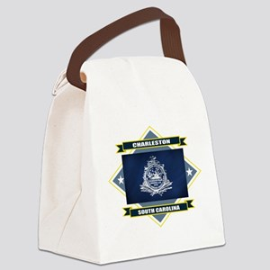 Charleston diamond Canvas Lunch Bag