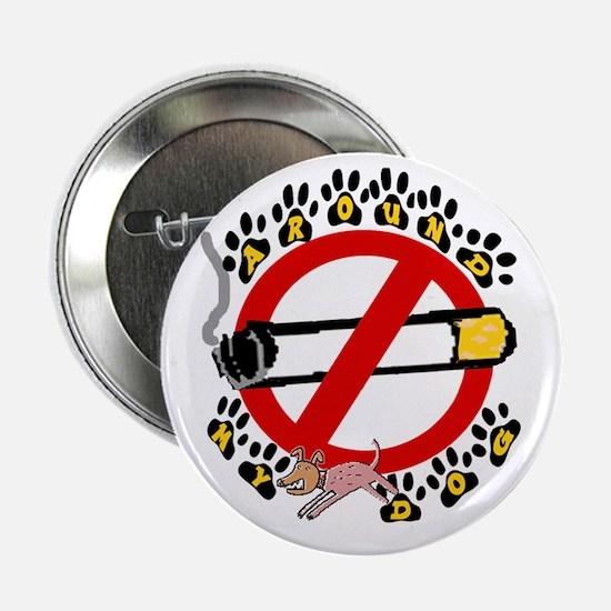 NO SMOKING AROUND MY DOG Button