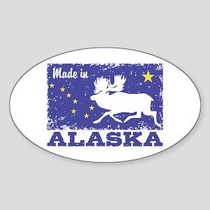 Made In Alaska Sticker (Oval)