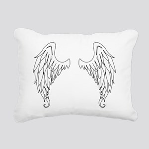 stitched wings Rectangular Canvas Pillow