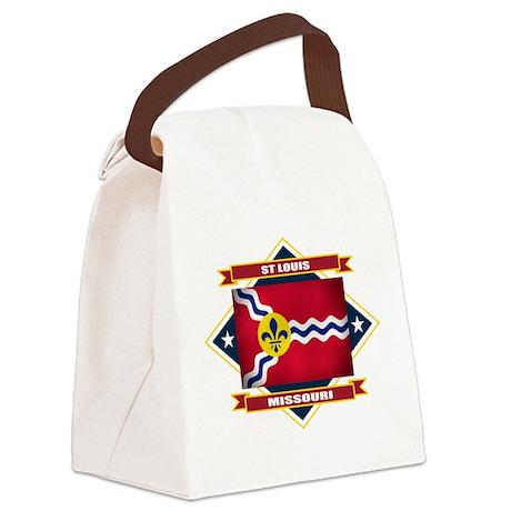 St Louis diamond.png Canvas Lunch Bag