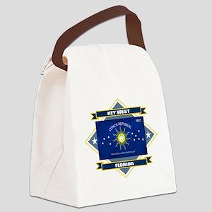 Key West diamond Canvas Lunch Bag