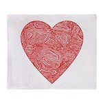 HEARTclearred Throw Blanket
