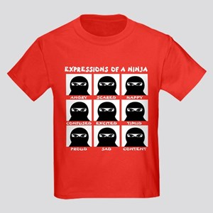 Expressions of a Ninja Kids Dark T-Shirt