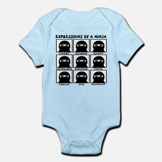 Expressions of a Ninja Infant Bodysuit