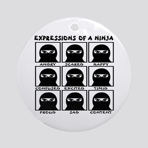 Expressions of a Ninja Ornament (Round)