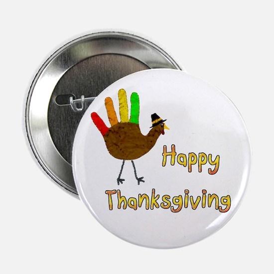 """Hand Turkey - 2.25"""" Button"""