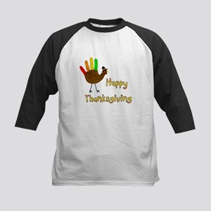 Hand Turkey - Kids Baseball Jersey