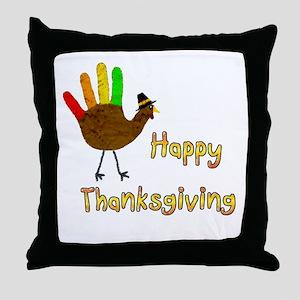 Hand Turkey - Throw Pillow