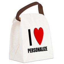 I Love... Canvas Lunch Bag