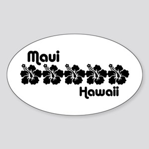 Maui Hawaii Sticker (Oval)