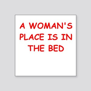 "BED Square Sticker 3"" x 3"""