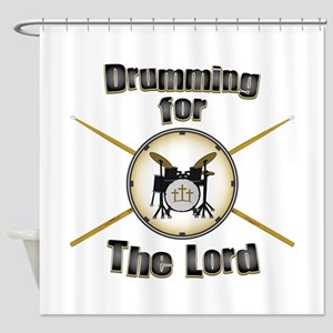 Drumming for the Lord Shower Curtain