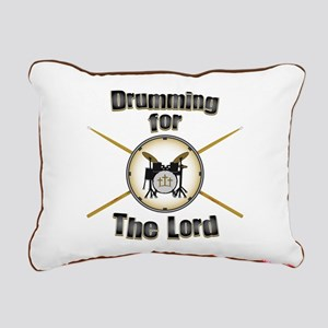 Drumming for the Lord Rectangular Canvas Pillow