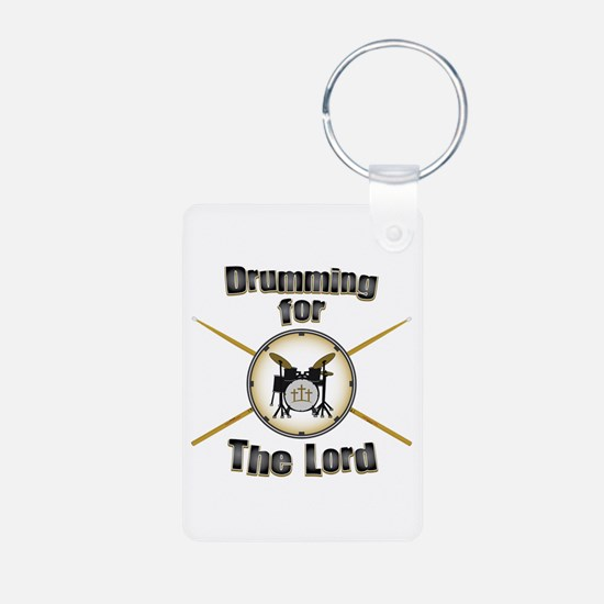 Drumming for the Lord Keychains