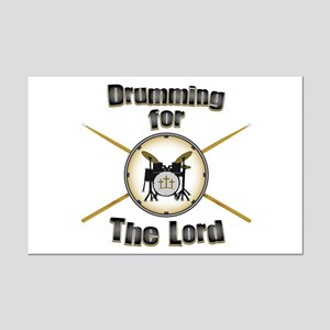 Drumming for the Lord Mini Poster Print