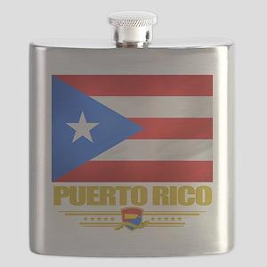 Puerto Rico (Flag 10) Flask