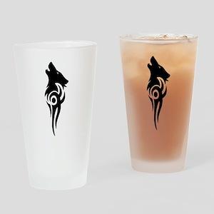 tribal black Drinking Glass
