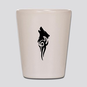 tribal black Shot Glass