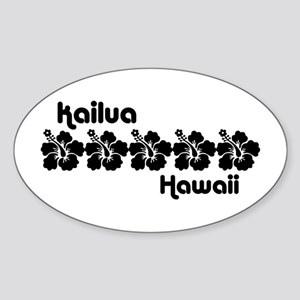Kailua Hawaii Sticker (Oval)