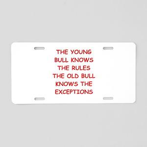 BULLS Aluminum License Plate
