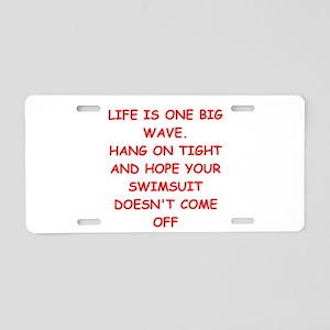 life Aluminum License Plate