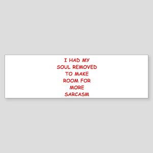SARCASM Sticker (Bumper)