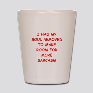 SARCASM Shot Glass