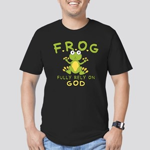 Fully Rely On God Men's Fitted T-Shirt (dark)