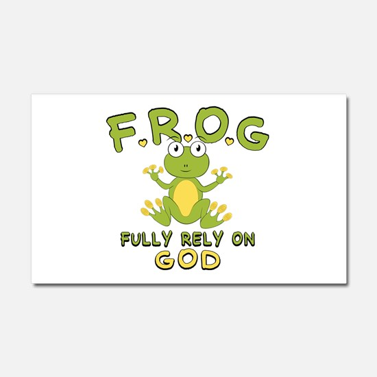 Fully Rely On God Car Magnet 20 x 12