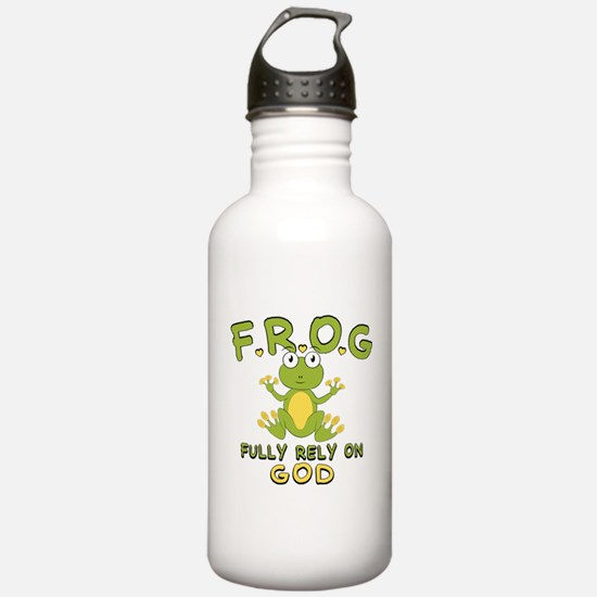 Fully Rely On God Water Bottle