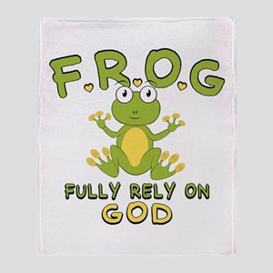 Fully Rely On God Throw Blanket