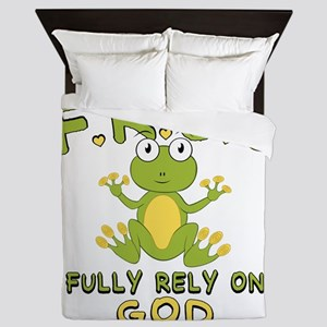 Fully Rely On God Queen Duvet