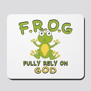 Fully Rely On God Mousepad