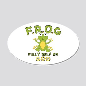Fully Rely On God 20x12 Oval Wall Decal