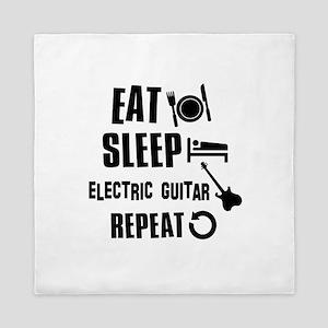 Eat Sleep Electric Guitar Queen Duvet