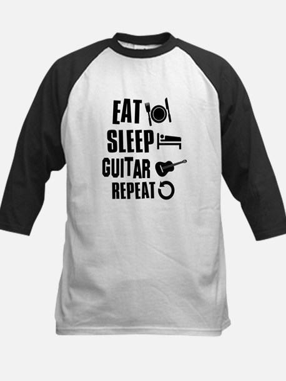 Eat Sleep Guitar Kids Baseball Jersey
