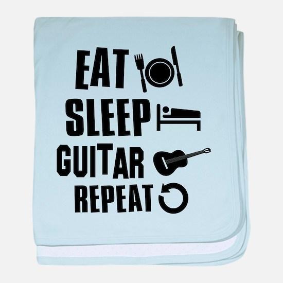 Eat Sleep Guitar baby blanket