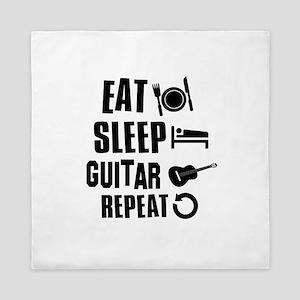 Eat Sleep Guitar Queen Duvet