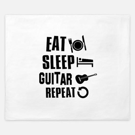 Eat Sleep Guitar King Duvet