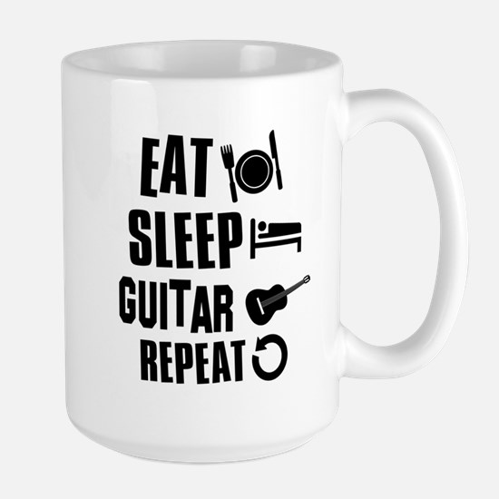 Eat Sleep Guitar Large Mug
