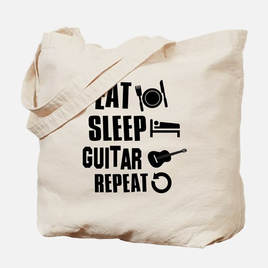Eat Sleep Guitar Tote Bag